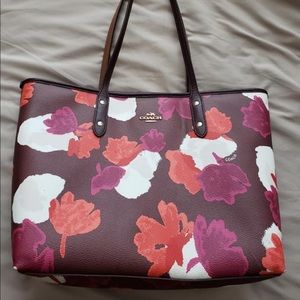 Brown floral large Coach purse and Wallet